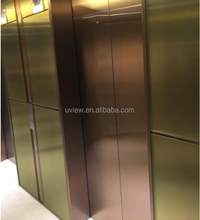 Titanium stainless steel decorative elevator door design
