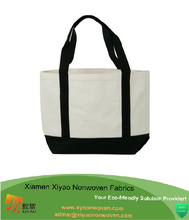 Promotional Beige Heavy Duty Shopping Standard Size Canvas Tote Bag