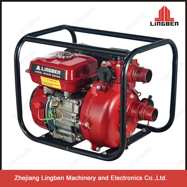 zhejiang lingben 5.5hp 2inch gasoline high pressure water pump manufacturer factory price