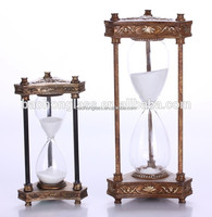 Unique Poly Carving Retro Flip Clock Large 30 Minute Hourglass Wholesale