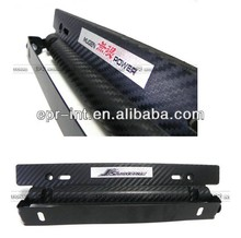 Hot Selling Adjustable Imitation Carbon Fiber License Plate Holder Frame