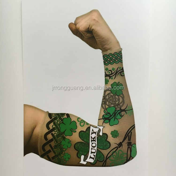 92% nylon and 8% spandex customized logo fake tattoo sleeves