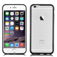 Ultra Hybrid Series TPU Bumper With Clear Back Armor Case Cover For iPhone 6