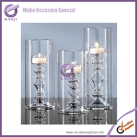 Restaurant Made in China Long-Stemmed Votive Glass Candle Holders/Candlesticks Insert for Centerpiece