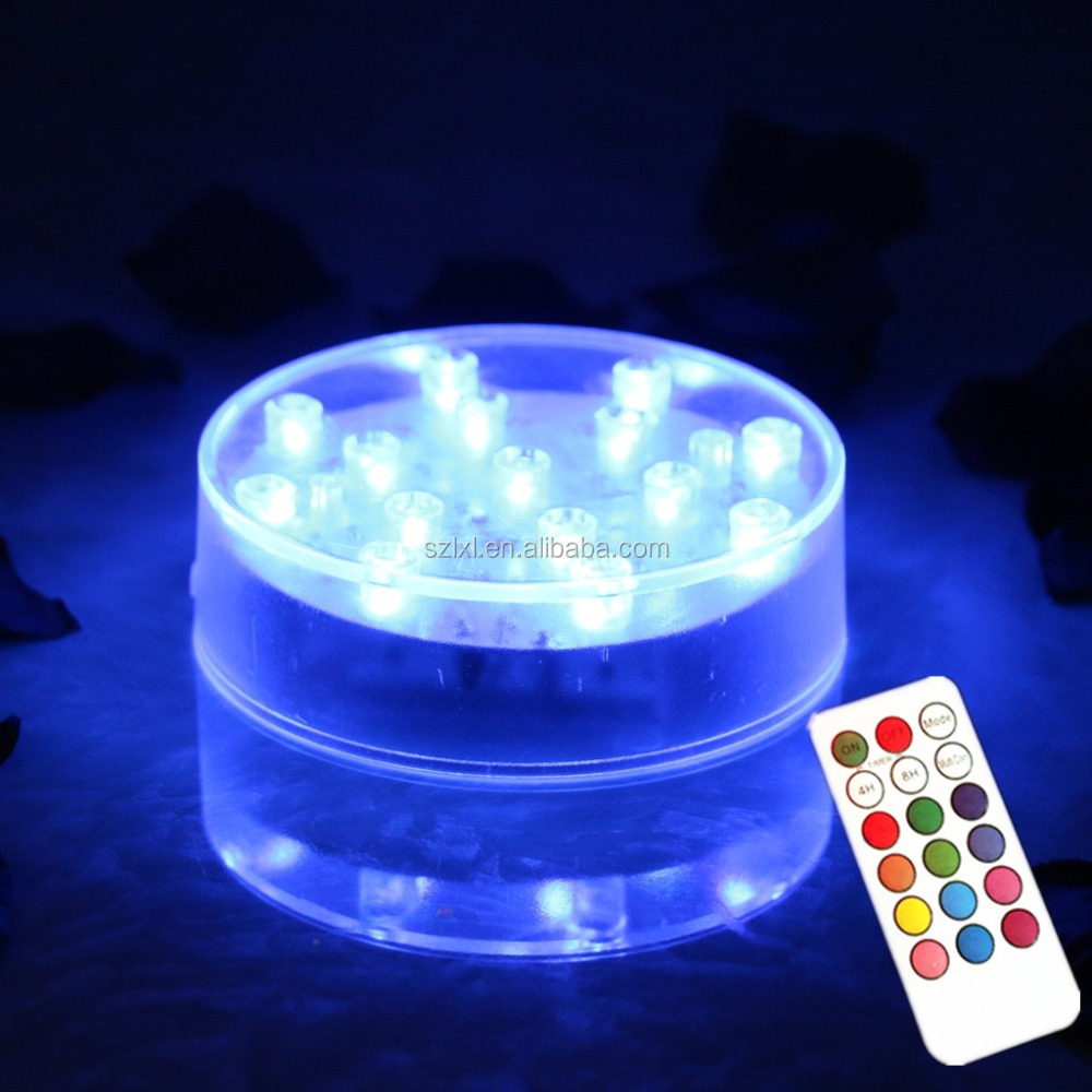 4 inch wide Multi-color Remote control LED Vase Illuminator / LED Remote control table centerpiece light