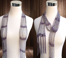 Handmade Women Fancy Items Beaded Crochet Skinny Long Scarf