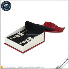 JBP233P Hot Sale Design Cardboard Paper Pendant Jewellery Book Box With Velvet Cover