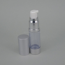 top quality 15ml airless pump lotion bottle make up cosmetic packaging containers