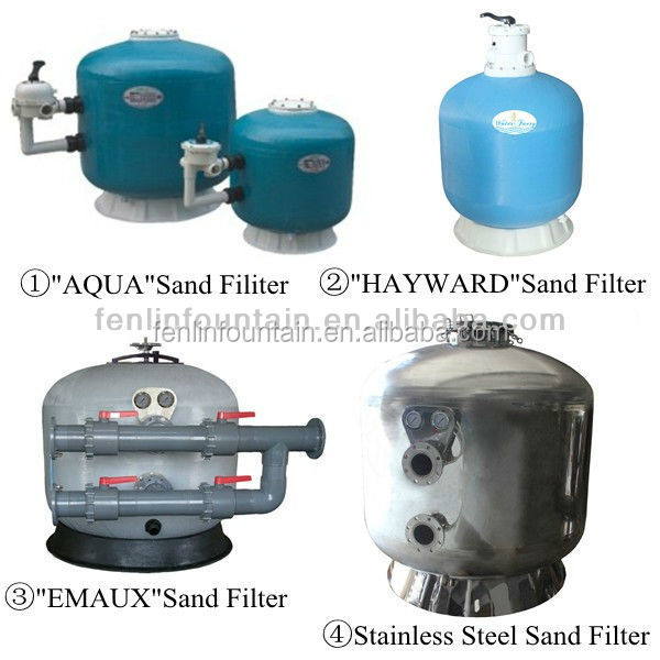 Swimming Pool water treatment industrial used quartz sand filter for sale