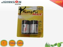 china suppliers the zinc carbon battery bank 1.5v r14 c battery