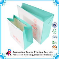 Guangdong superior custom little paper bags with ribbon handle