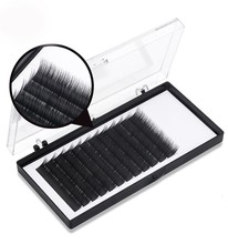 Top quality ellipse <strong>flat</strong> eyelash extension,silk eyelash