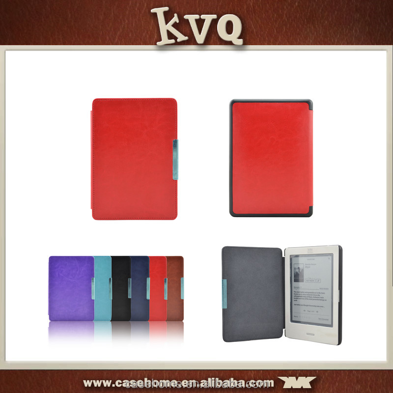 Book style Folio Leather Case Cover for KOBO touch, 6 inch For Kobo touch leather case