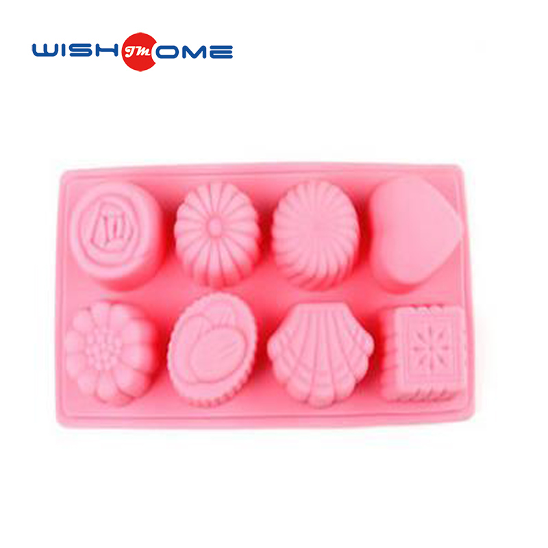 JianMei Brand Silicone 8-sets flower and heart shape high quality Cake Mold