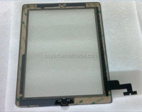 For iPad 2 Glass Screen Touch Digitizer Screen Home Button Frame Assembly Black wih tools