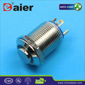 12mm led metal push button switch