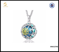 Latest Design 925 Sterling Silver Flower And Heart Pearl Cage Pendant Necklace Fashion Jewelry Made in China wholesale