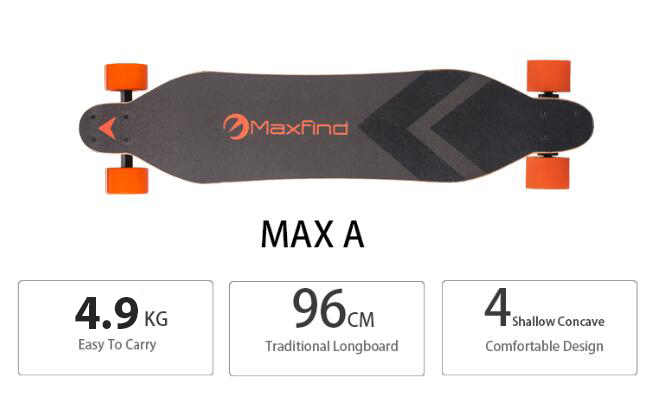 EU warehouse shipping Maxfind electric longboard with IP65