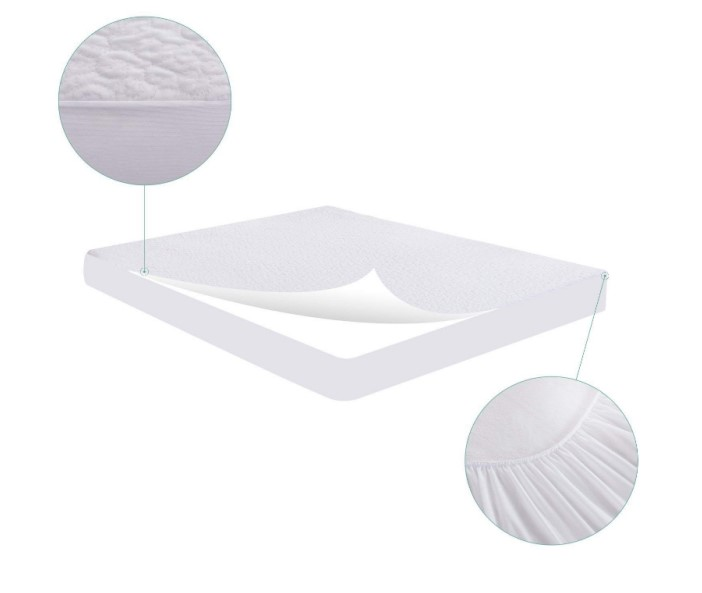 Stretched Fitted Deep Pocket Polyester Wholesale Air Layer Waterproof Mattress Protector - Jozy Mattress | Jozy.net