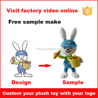 OEM mini custom high quality soft stuffed plush animal bunny