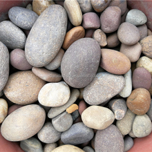 Natural mixed color pebble or cobble stone