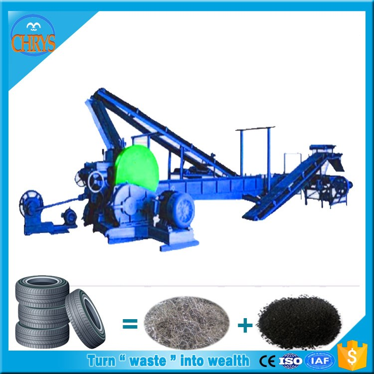 Automatic Producing scrap tire recycling plant/Rubber powder processing machine