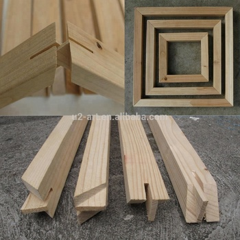 1.5 inch deep DIY wooden Stretcher bars canvas frame