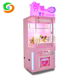 Newest Cut Ur Prize Plush Toy Crazy Scissors Crane Machine Coin Operated Prize Gift Crane Game Machine