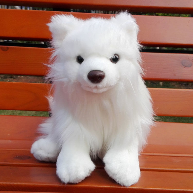 Simulation pure white butterfly dog plush dog like real