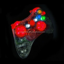 For Xbox Controller Xbox 360 Wired Controller Housing Wholesale CRYSTAL RED XCM LED SHELL 2