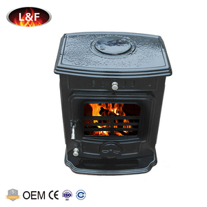 6KW Dual Air Controls Free Standing Cast Iron Black Enamel Multi Fuel Burning Stove