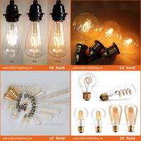 Manufacturer C35 G45 T30 ST64 A60 G80 G95 G125 Dimmable Vintage LED filament edison light bulb E27 2700K 3000K 4000K led lamp