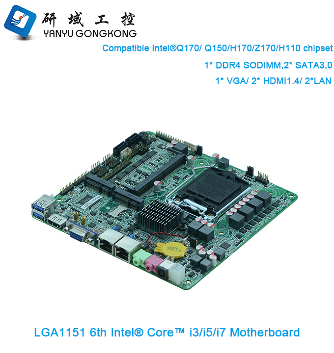 Factory quality mini thin client motherboard with CPU skylake i3 i5 i7