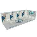 Detian Offer trade show exhibit stand modular exhibition systems with counter and shelves