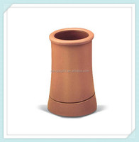 Roll top terracotta chimney pot