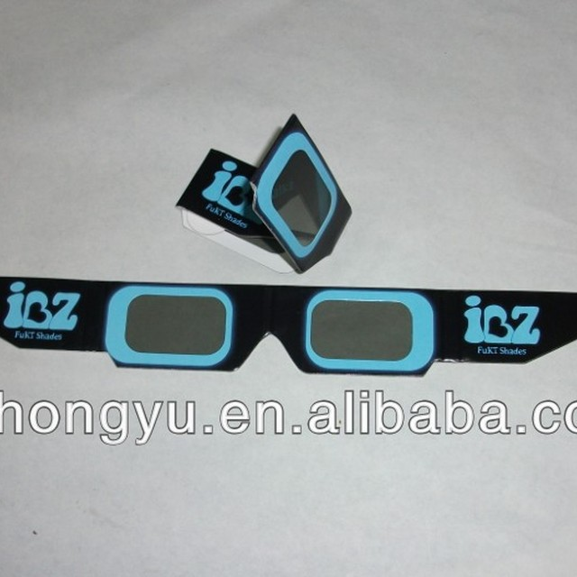 colorful frame linear polarized paper 3D movie glasses