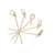 Easy Holding Single Pointed Bamboo Knot Skewer 9cm