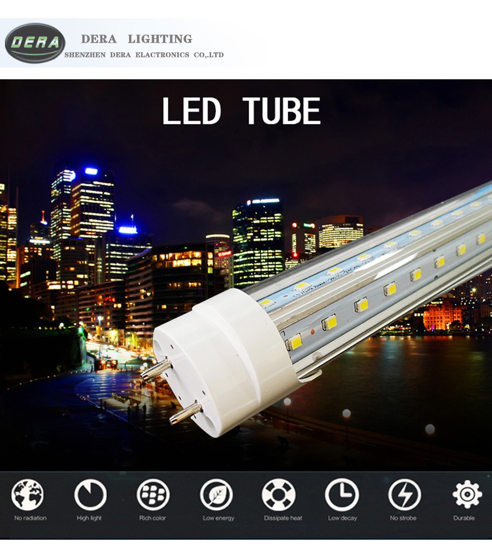 Economical V shape t8 tube led fluorescent tube light 110-277v led tubes 18w 900mm