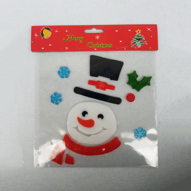 Custom christmas window sticker for sweet decoration