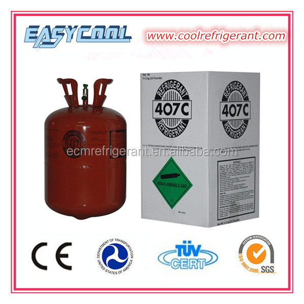 Refrigerant Gas R407 Also Supply R134A R404A R410a R507 R600a Etc.