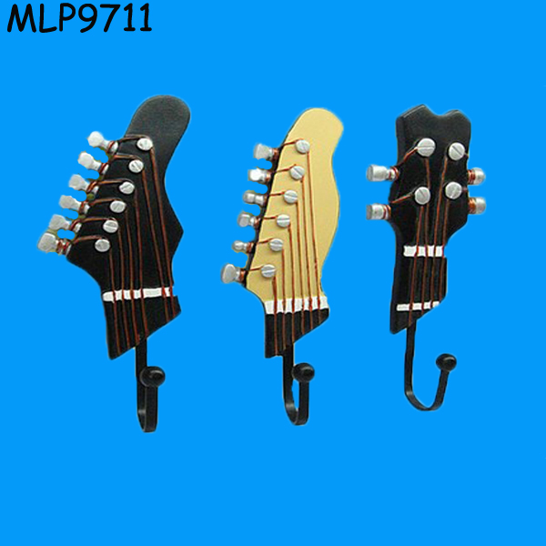 Creative Guitar Decorative Coat Hooks wall hanger For Sales