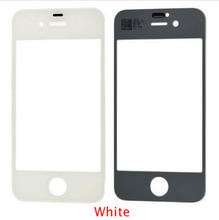 Replacement Front Coating Screen Outer Glass for iPhone 4S black and white