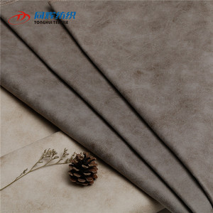 Wholesale Textile Faux Leather Suede Sofa Fabric Low Price Per Meter