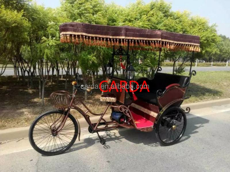 electric pedal bike for passenger/assisted pedal taxi e-rickshaw/luxury electric motor tricycle with roof