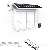 Flexible sunpower small solar panel power supply system for home
