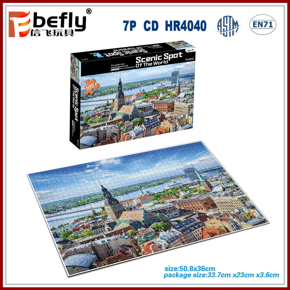Wholesale custom adults games jigsaw puzzle 500/1000pcs