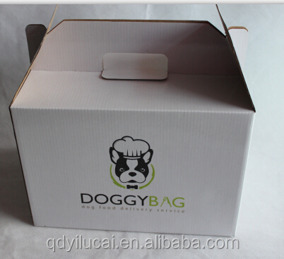Custom logo pattern pet food corrugated paper box for packing
