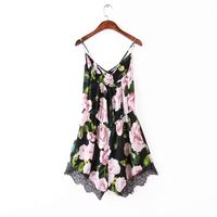 Latest fashion women wear wholesale three quarter sleeves open front floral print kimono