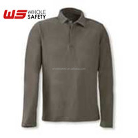 EN14116 Flame Retardant Antistatic Long Sleeved Polo Shirt - FR10,industrial workwear