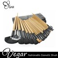 Black bag 24pcs makeup brush set